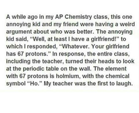 AP Chemistry funny