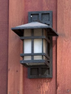 Lamp on the building