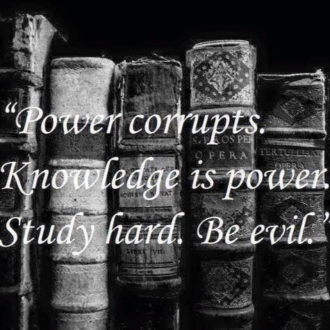 Knowledge is power wise