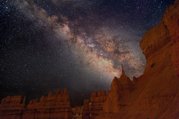 The Milky Way above Bryce Canyon